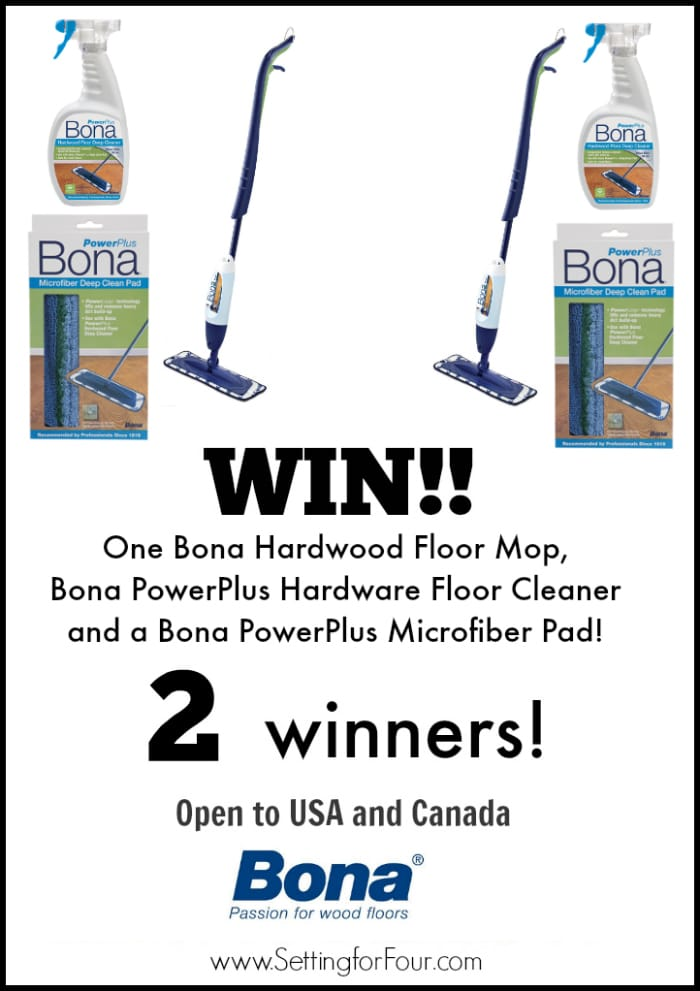 Don't miss the awesome Spring Cleaning Giveaway I have on now! Win a Bona Hardwood Cleaning supply package - open to USA and Canada! 2 Winnners!