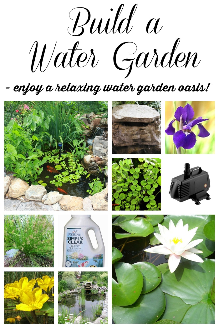 10 tips to build the perfect pond including DIY tips, design and plant ideas to create a relaxing, beautiful outdoor water garden in your yard that your whole family will enjoy!