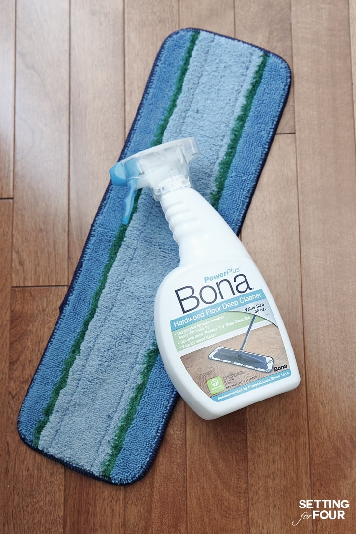 How to really deep clean hardwood floors - perfect lesson for Spring Cleaning! Get the tips at SettingforFour.com