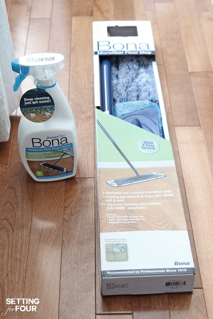 Homemaking tips and tricks: Deep cleaning hardwood floors the safe and easy way! Get the tips at SettingforFour.com