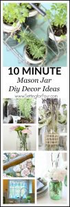 Quick and Easy Mason Jar Centerpieces