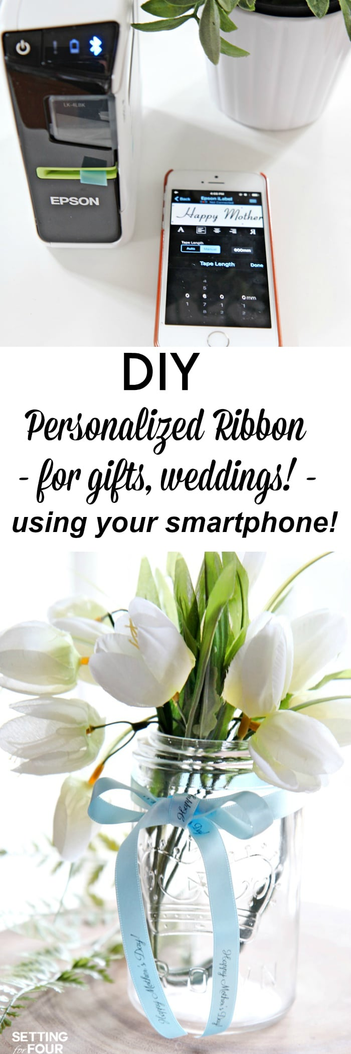How to Make Personalized Ribbon for Gifts and Weddings and Personalized Labels for Organization.