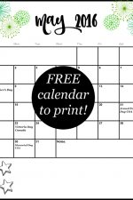 Free Calendar for May
