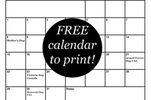 Get this FREE May calendar to keep you organized!