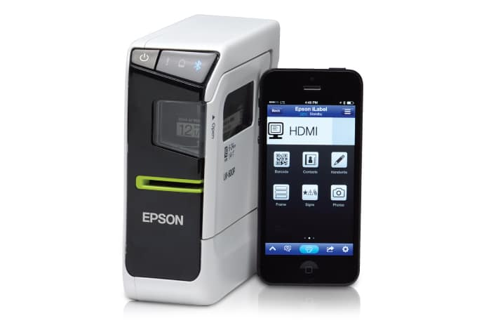 Epson Labelworks Printer - prints labels and ribbon from your smartphone and tablet!