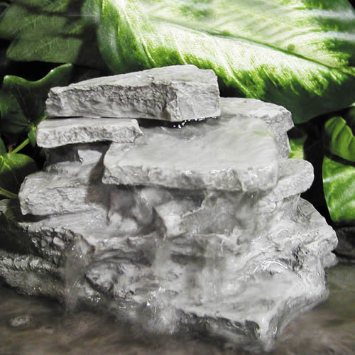 A waterfall rock is the perfect feature for a water garden!