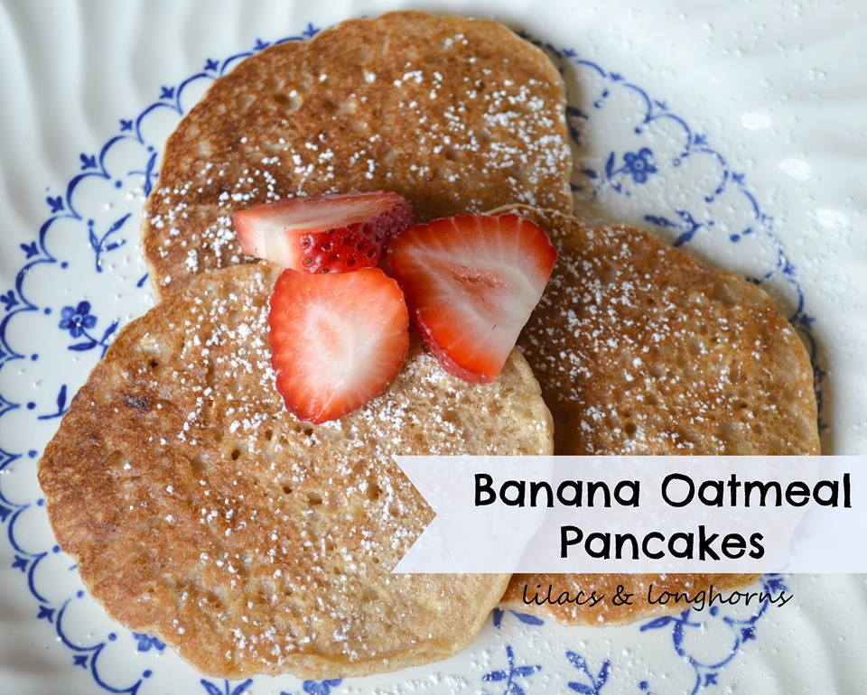 Banana Oatmeal Pancake Recipe - so delicious! Perfect for breakfast and brunch!