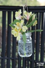 DIY Hanging Flower Mason Jars