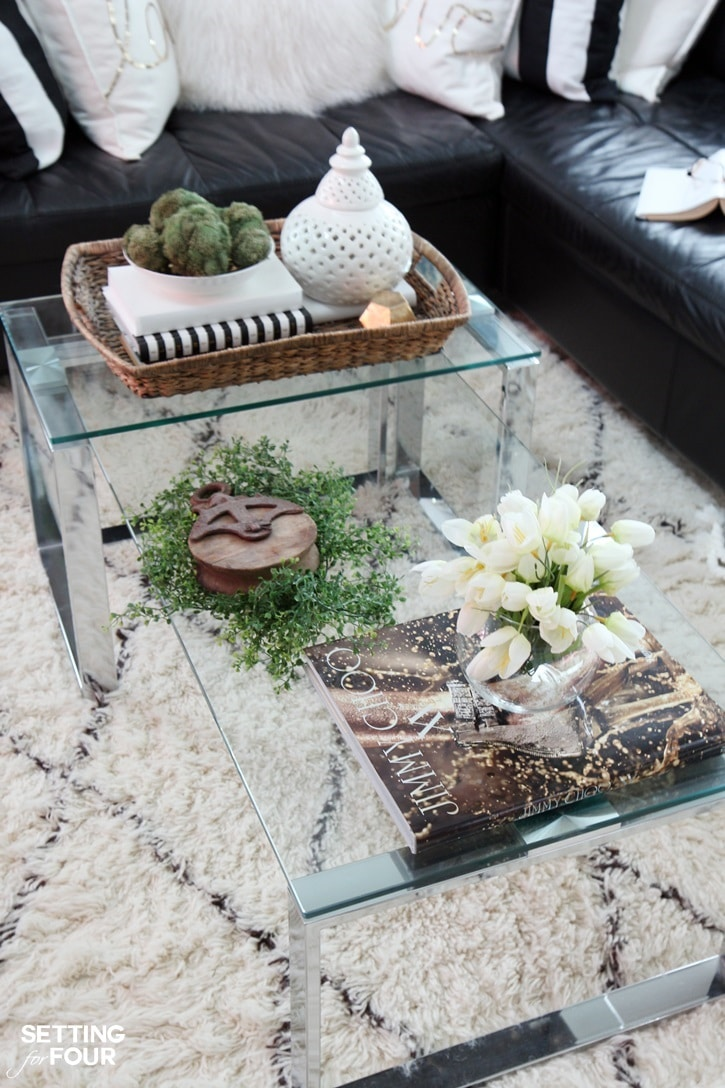 5 tips to decorate accent tables like a pro setting for for Decor for coffee table