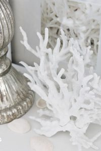 See how you can make this fast and fabulous 10 minute decor idea for your home! DIY Faux Coral inspired by Pottery Barn! Supply list, tutorial and styling ideas included! www.settingforfour.com