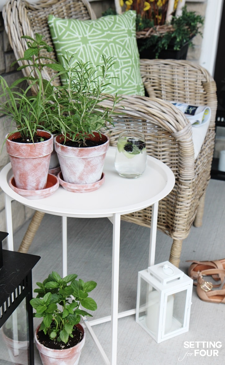 EASY DIY whitewashed plant pots - perfect for flowers, succulents and herbs!