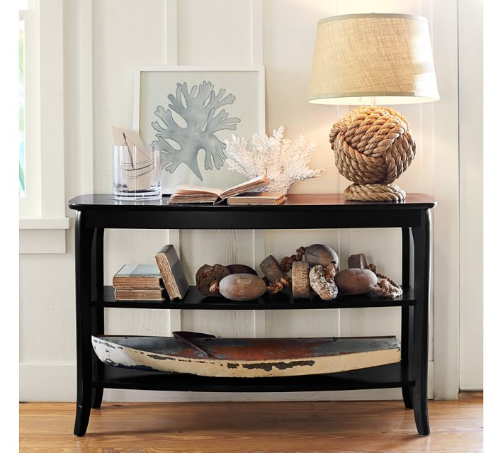 Coral Console Decor Idea