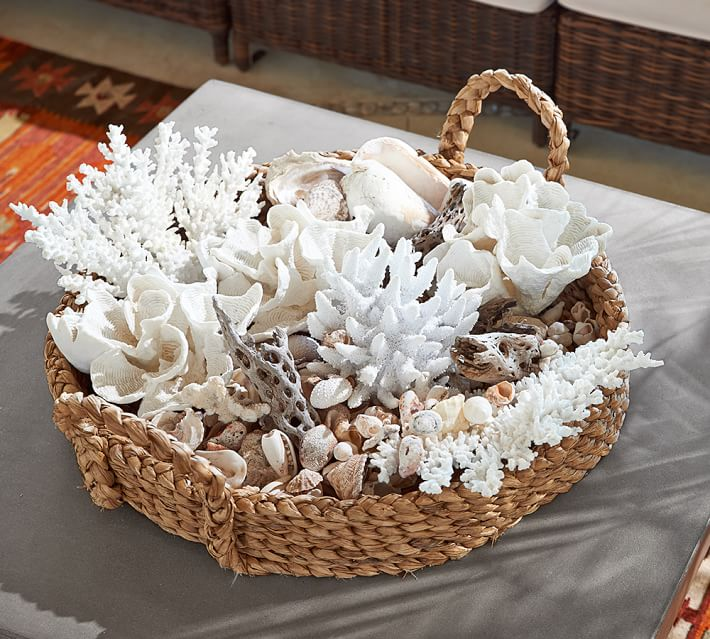 Coral Basket Decor Idea