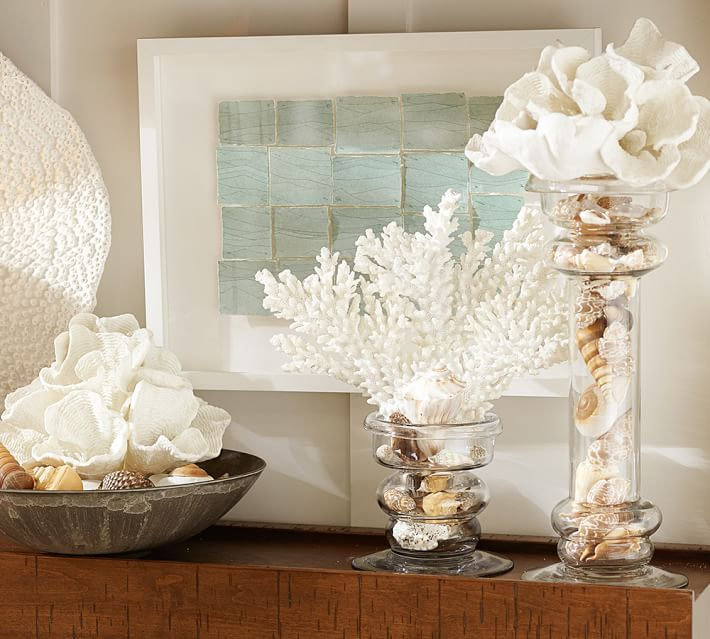 Decorate Shelves with Faux Coral