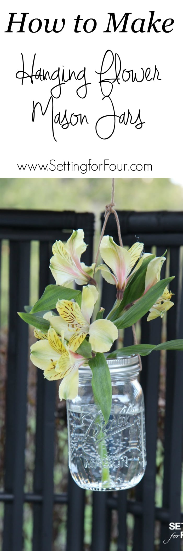 How to make diy hanging flower mason jars!
