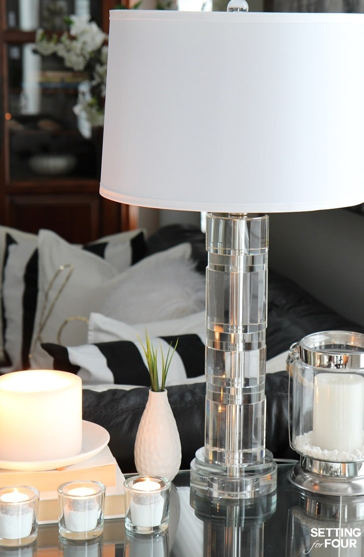 Decorating With Lamps 5 tips to decorate accent tables like a pro! - setting for four