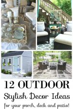 12 Stylish outdoor decor ideas for your porch, deck and patio!