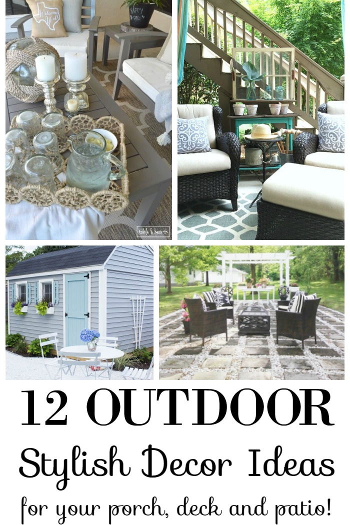 Add summer coziness and relaxed beauty to your outdoor spaces with these 12 stylish DIY decor ideas for your porch, deck and patio! www.settingforfour.com