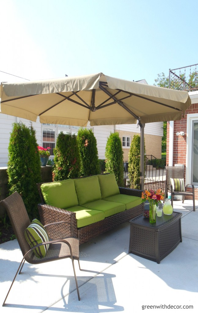 Plant some cedars around your patio sitting area to create a cozy, private nook: Patio Makeover