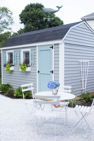 Transform your outdoor shed into a She Shed! Coastal She-Shed