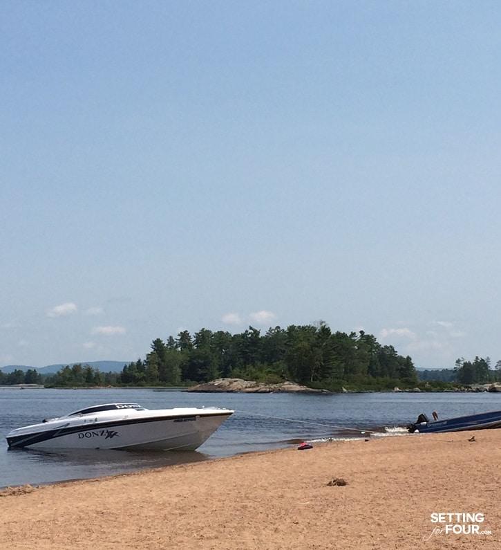 Beach and boating fun