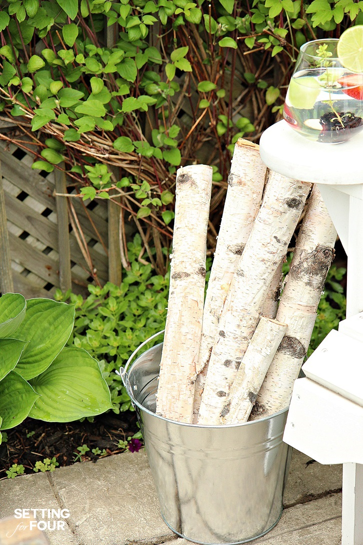 Fire pit firewood storage idea.