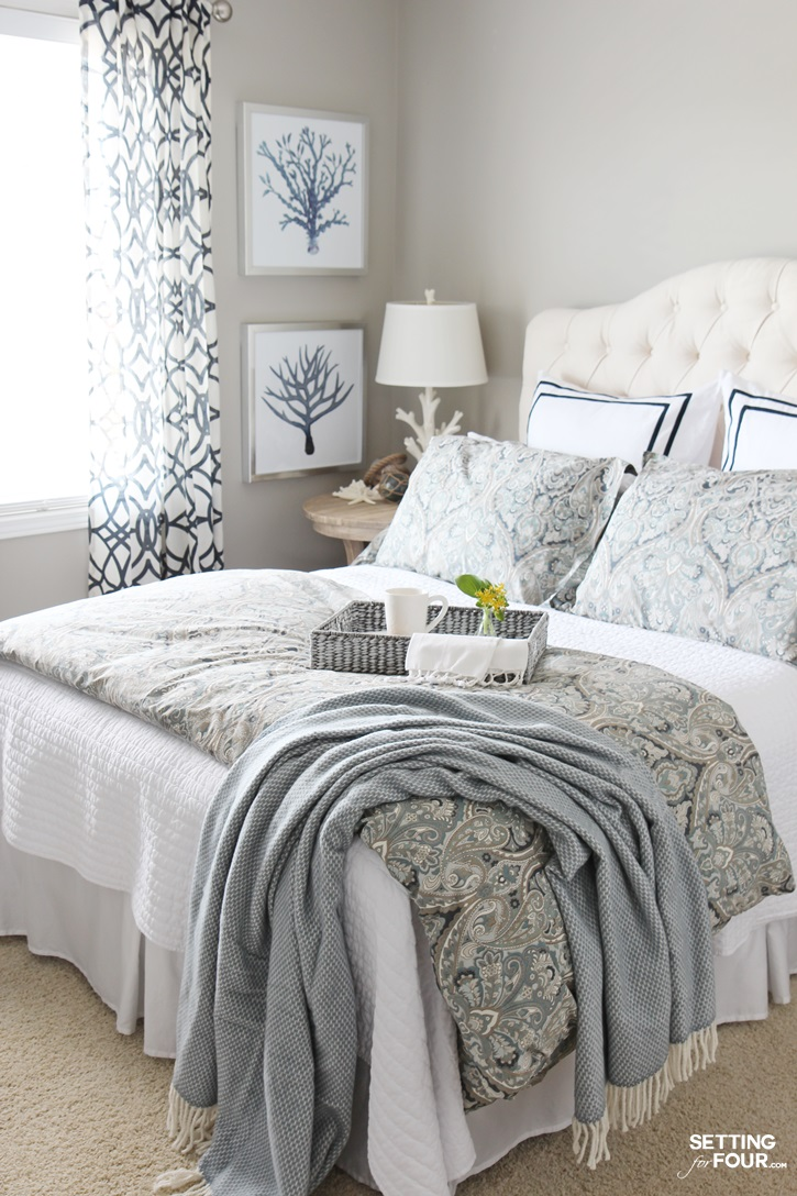 See our guest bedroom paint color - it's my go to favorite gray color!