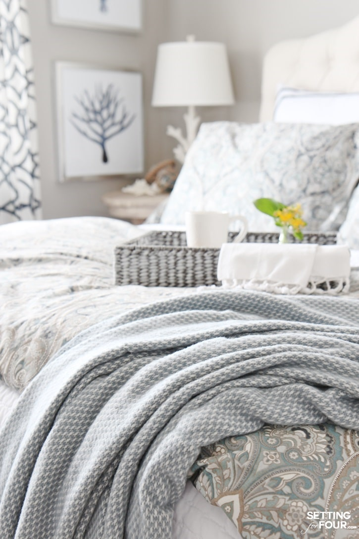 Decorations and tips to add comfort and style a guest room or master bedroom.