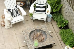 See my outdoor fire pit seating area, the DIY Adirondack chairs my family loves to relax in, outdoor bar cart and simple outdoor summer decorating ideas!