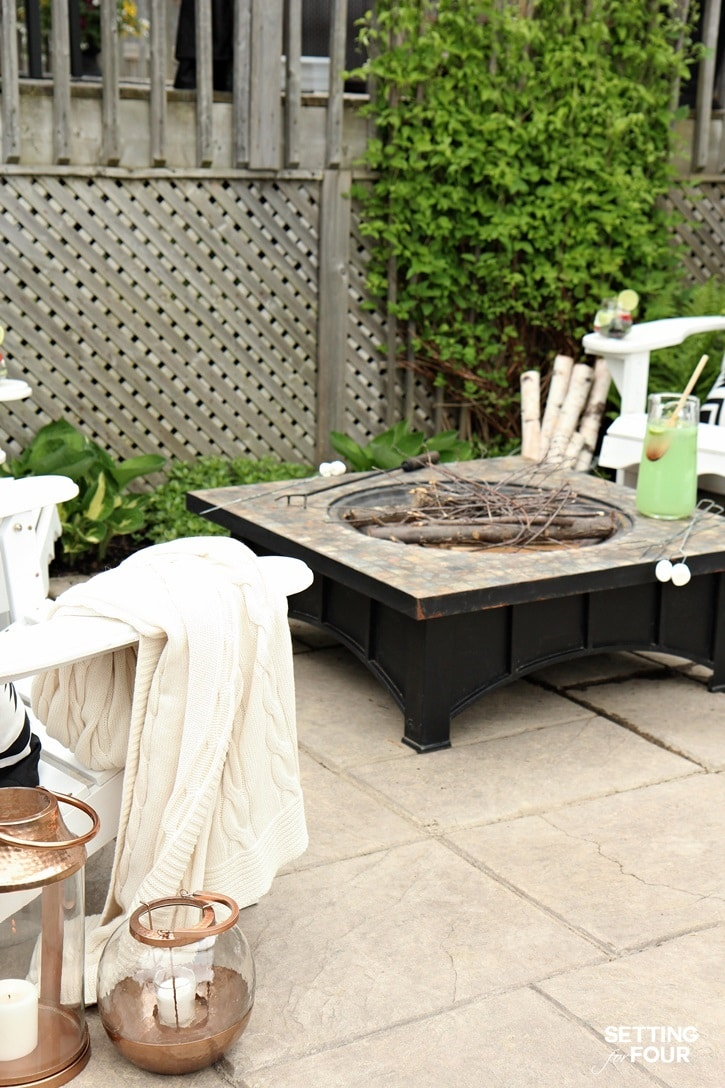 Outdoor patio and fire pit ideas.