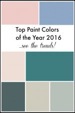 Top Paint Colors of the Year 2016