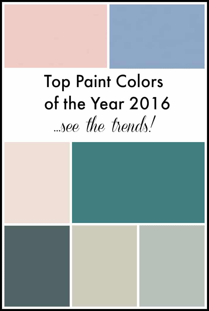 Top paint colors of the year 2016 setting for four Paint color of the year
