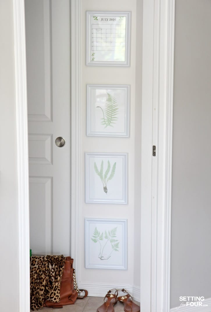 Do you have a blank wall space that's begging for some pattern, color and visual interest? Make a Gallery Wall of Botanical Prints! This easy DIY gallery wall idea is the perfect way to decorate a tall, narrow wall and adds a pretty touch of nature to your space! I'll show you how to make it!