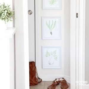 10 minute decorating idea with a diy art gallery of plant printables!