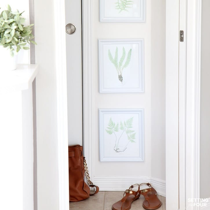 GORGEOUS! Easy DIY Gallery Wall of FREE fern prints!
