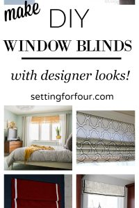 Make these affordable and stylish DIY window blinds and shades for your home! Gorgeous DIY decor ideas to give your rooms a designer look!