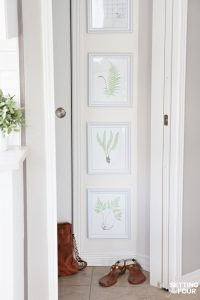 Gallery Wall Of Botanical Prints