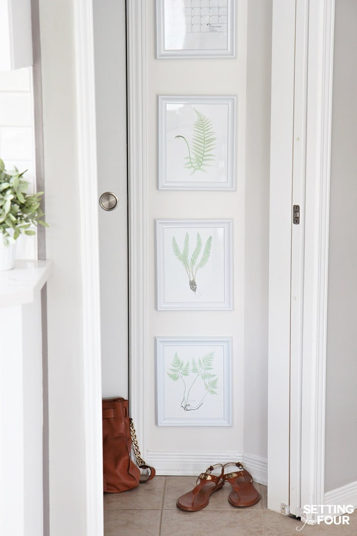 See how to tackle a narrow wall and decorate it with this botanical art gallery! Quick and easy!