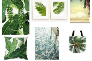 Palm Paradise Trend Alert - see how to add this bold hip pattern to your home and closet!