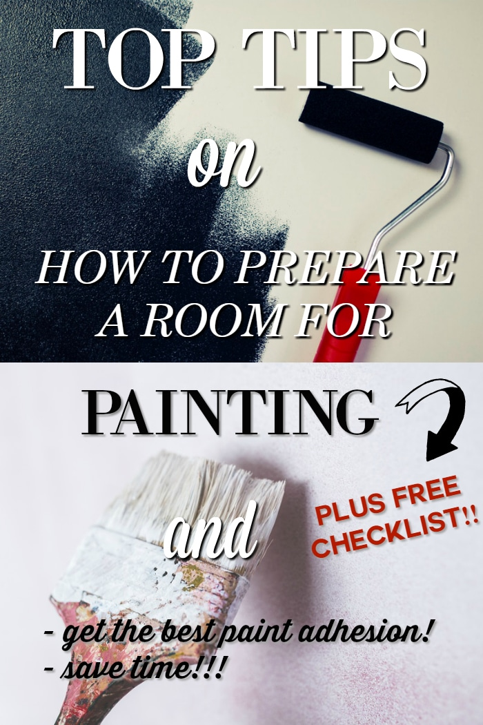 Preparation is a definitely a key step when it comes to painting a room! See 12 essential tips on how to prepare a room for painting - save time, ensure proper paint adhesion and fast forward to the actual painting so you can enjoy your newly painted room as quickly as possible! Get your FREE Paint Prep Checklist to print off and keep in your home binder too!
