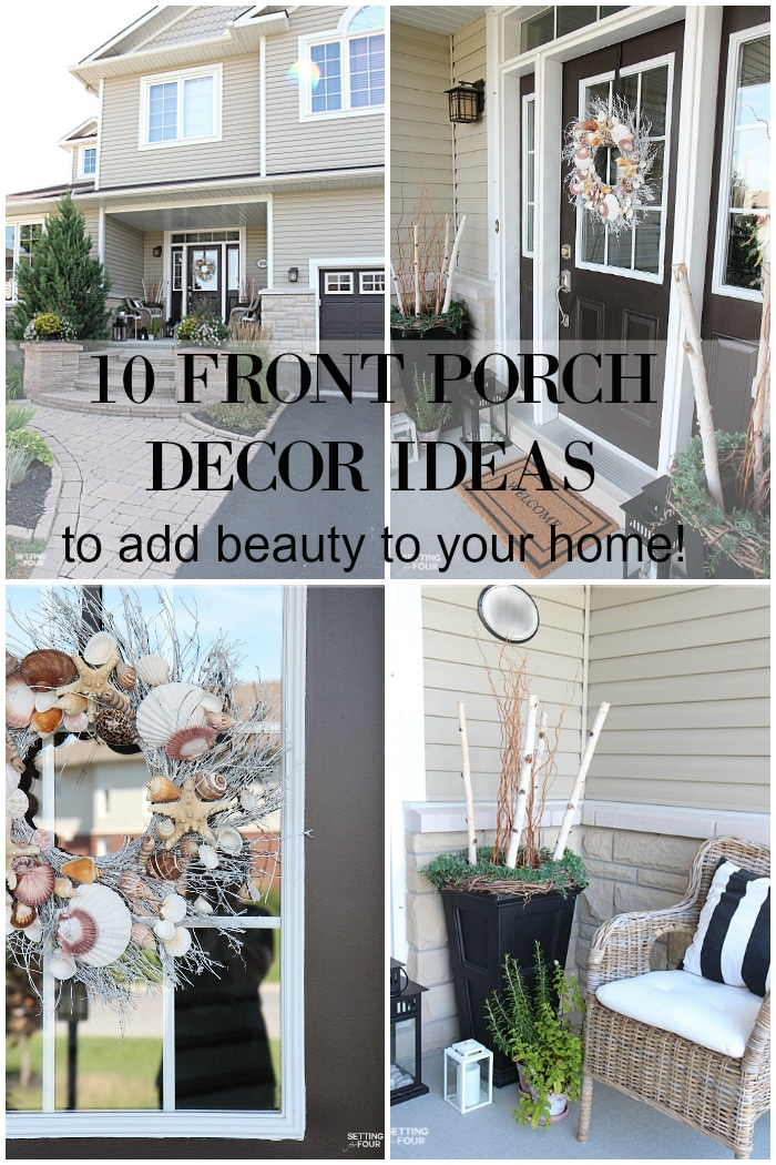 See this blogger's home! A tour of the porch and front gardens plus 10 front porch ideas to add beauty to your home!