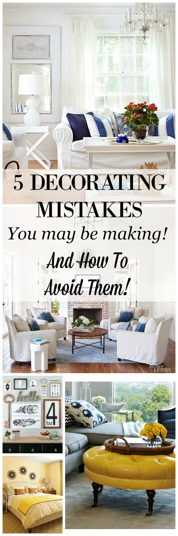 5 Decorating Mistakes That Make Your Home Look Cluttered - Setting ...