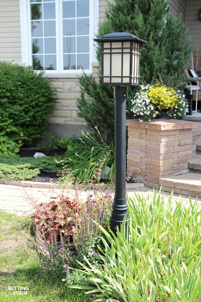How to disguise a lamp post and make it add to the curb appeal of your home!