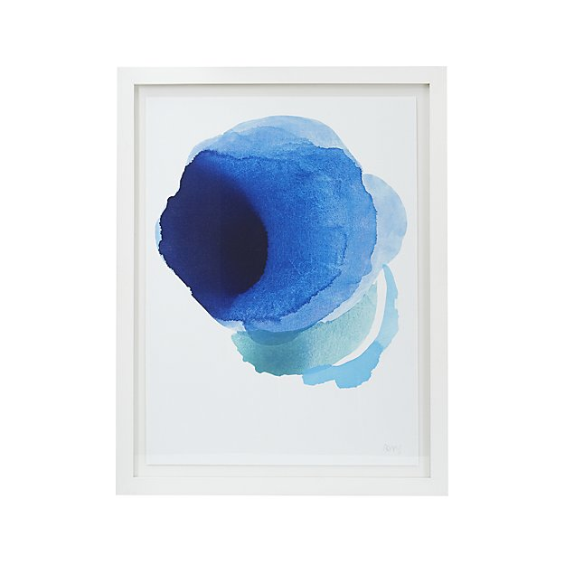 Add on trend color indigo blue to your home with abstract art like this! Such an easy way to add style and update your space!