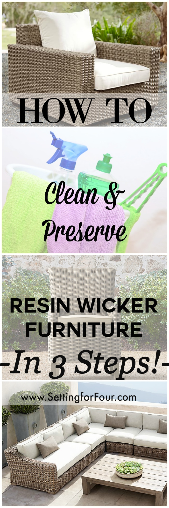 How to: Clean & Preserve Resin Wicker Furniture In 3 Steps
