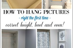 How to hang pictures right the first time! Use this DIY tutorial as a reference the next time you're hanging pictures to get them even, straight and at the right height.