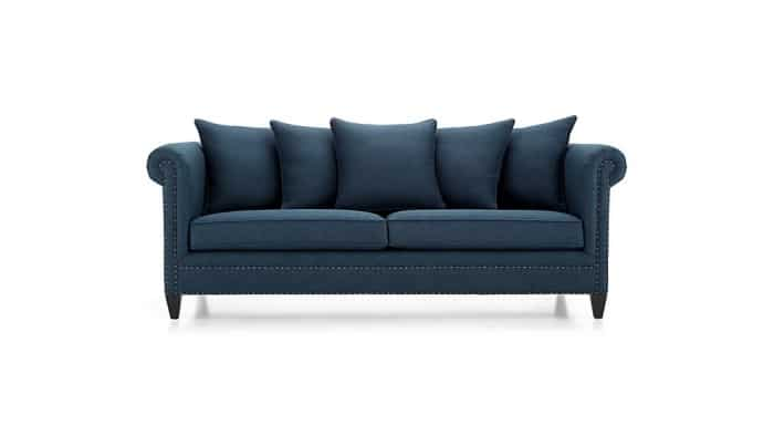 An indigo blue sofa is a stunning way to add stylish and timeless color to a home. It's still a neutral look that pairs well with gray, cream, black and white!