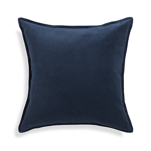 Indigo Blue Velvet Pillow - I'm crushing on this velvet pillow! T he color...the texture!