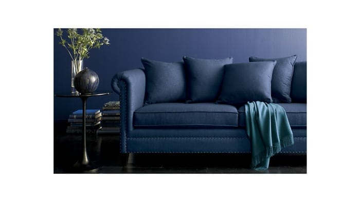 So stylish! Indigo blue paint color for a living room. Color inspiration for the home.