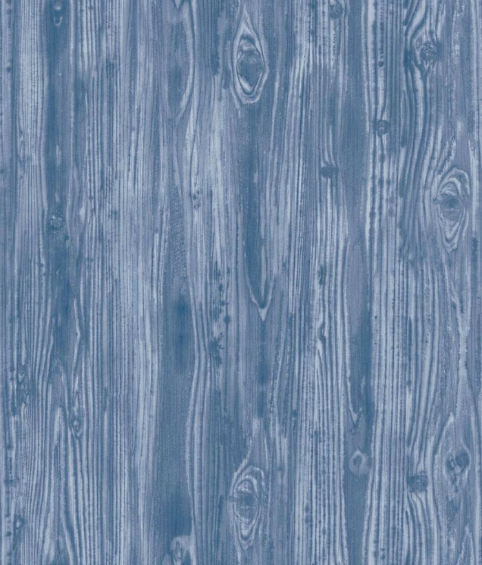 Wood Grain Indigo Blue wallpaper - this is peel and stick and removable!